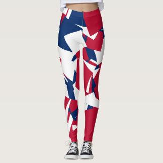 Red white blue leggings