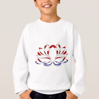 Red White & Blue Lotus Flower Sweatshirt