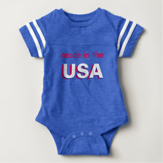 Red White & Blue made in USA Patriotic Baby Onesy Baby Bodysuit
