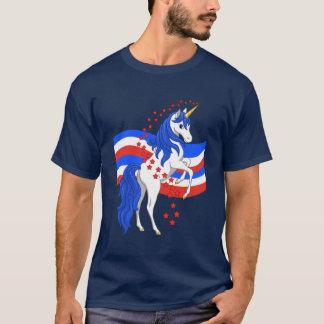 Red White Blue Mane American Unicorn T-Shirt