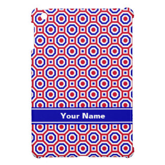 Red/White/Blue Nested Octagons iPad Case
