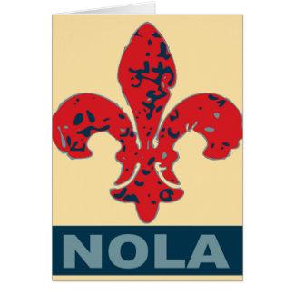 Red White Blue NOLa Fleur De Lis Card