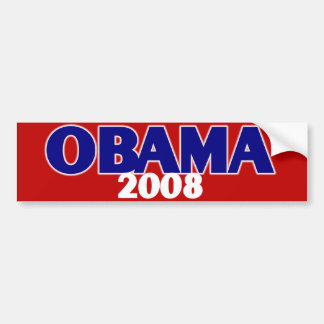 Red, White, Blue Obama 2008 Bumper Sticker