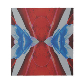 Red White Blue Patriotic Artistic Design Notepad
