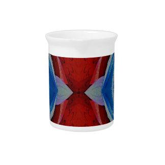 Red White Blue Patriotic Artistic Design Pitcher