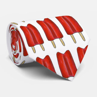 Red White Blue Patriotic Popsicles July 4th Tie