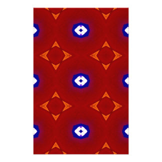 Red White Blue Patriotic Summer Colors Stationery