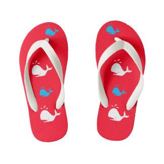 Red White & Blue Patriotic Whales 4Lee Kid's Thongs
