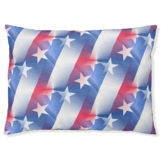 red white blue pet dog bed