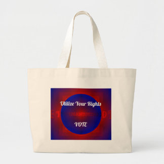 Red White Blue Political Right To Vote Abstract Jumbo Tote Bag