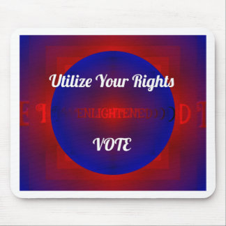 Red White Blue Political Right To Vote Abstract Mouse Pad