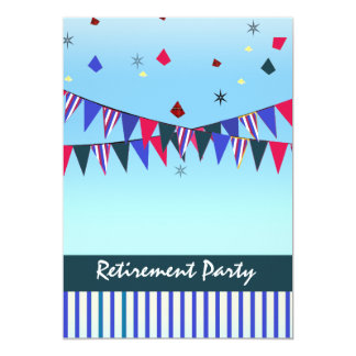 Red White Blue Retirement Party Card