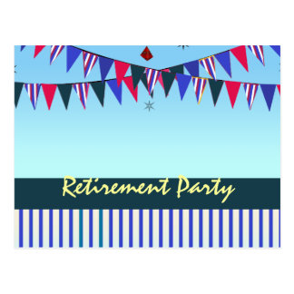 Red White Blue Retirement Party Postcard