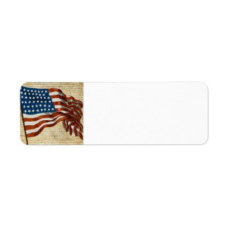 Red, White, & Blue Return Address Label