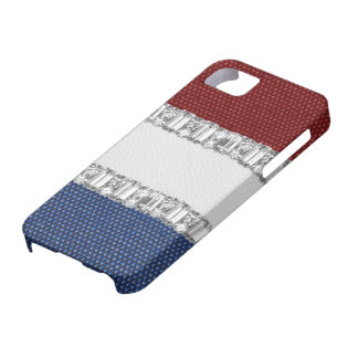Red White & Blue Rhinestone iPhone4 Case