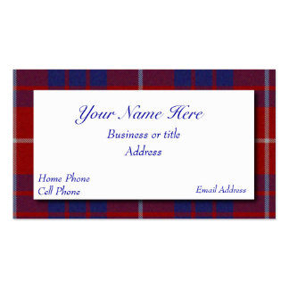 Red, White, & Blue Scottish Plaid Business Card