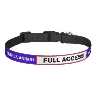 Red White Blue Service Animal Dog Collar