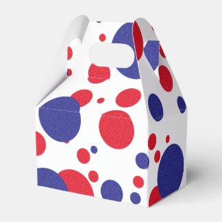 Red White Blue Shimmer Trump Huge Favor Boxes