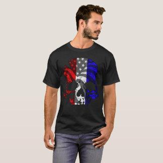 Red White Blue Skull T-Shirt