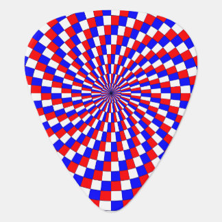 Red White Blue Spiral Plectrum