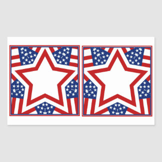 Red White Blue Star Design to Add Text Stickers