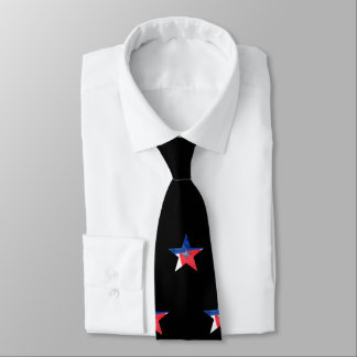 RED-WHITE-BLUE STAR necktie