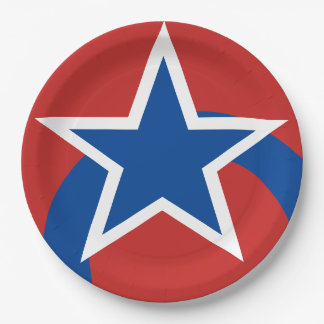 Red White Blue Star Paper Plates
