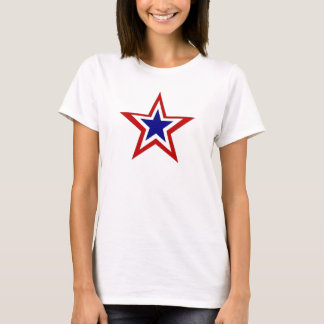 red white blue star T-Shirt