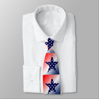 Red, White , Blue Star Tie