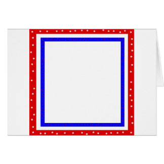 red white & blue stars and stripes greeting card