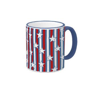Red White Blue Stars and Stripes Coffee Mug