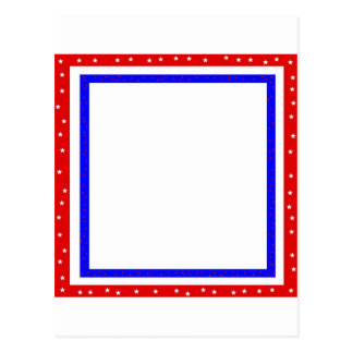 red white & blue stars and stripes postcard