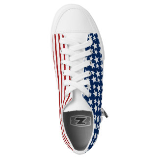 Red White & Blue Stars and Stripes! Printed Shoes