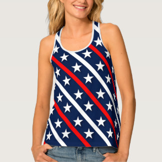 Red, White & Blue Stars and Stripes Tank Top