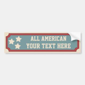 Red, White, Blue & Stars Bumper Sticker