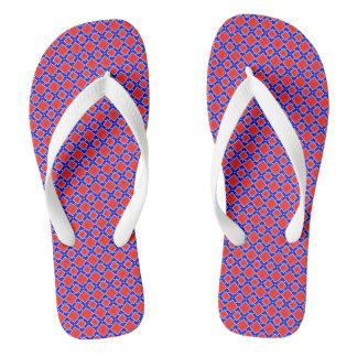 Red White Blue Stars n Stripes Patriotic Flip Flop Thongs