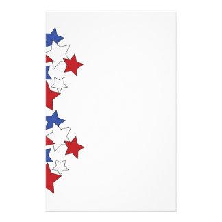 Red, White & Blue stars stationary Stationery