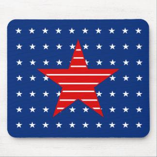Red white & blue, Stars & Stripes Mousepad