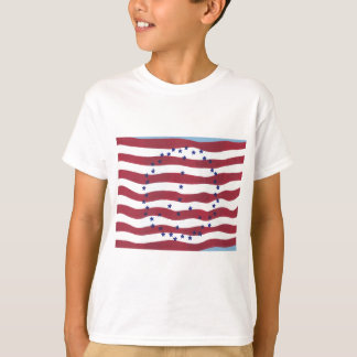 Red White Blue Stars Stripes Peace Sign Flag Tees