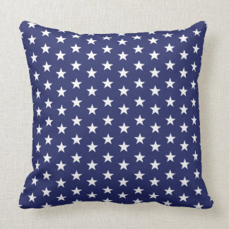 Red White Blue Stars Throw Pillow