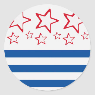 Red, White & Blue Stickers