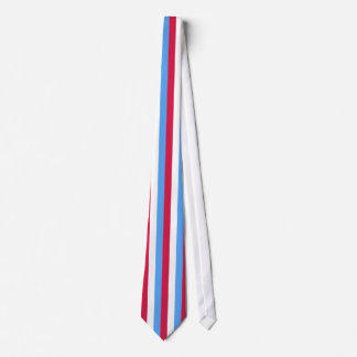 Red, White & Blue Striped Men's Tie