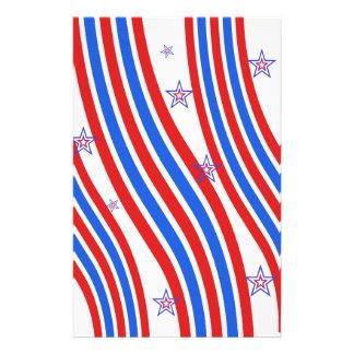 Red, White,  Blue, Stripes and Stars 14 Cm X 21.5 Cm Flyer