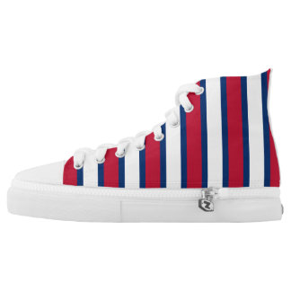 Red, White & Blue Stripes High Tops
