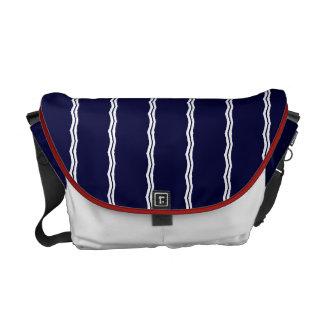 Red, White & Blue Stripes Rickshaw Commuter Bags