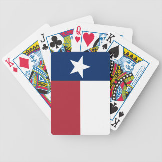 Red White Blue Texas Flag Bicycle Playing Cards