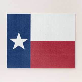 Red White Blue Texas Flag Jigsaw Puzzle