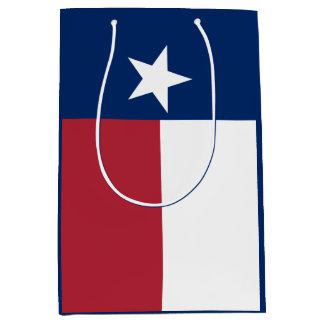 Red White Blue Texas Flag Medium Gift Bag