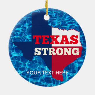 """Red, White & Blue """"Texas Strong"""" Ceramic Ornament"""