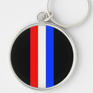 Red White Blue Tri Bar Stripes Keychain Keychain